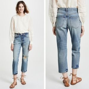 NWT FREE PEOPLE Ripped Boyfriend Jeans